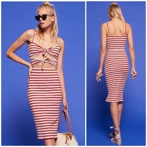 Reformation Ibiza Tie Front Dress